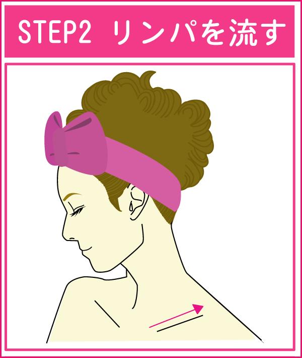 胸元のリンパマッサージ