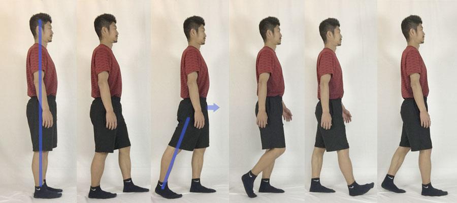 ヒップアップに役立つ歩き方の図解