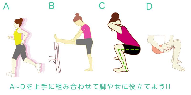 脚やせに重要な4つの組み合わせ
