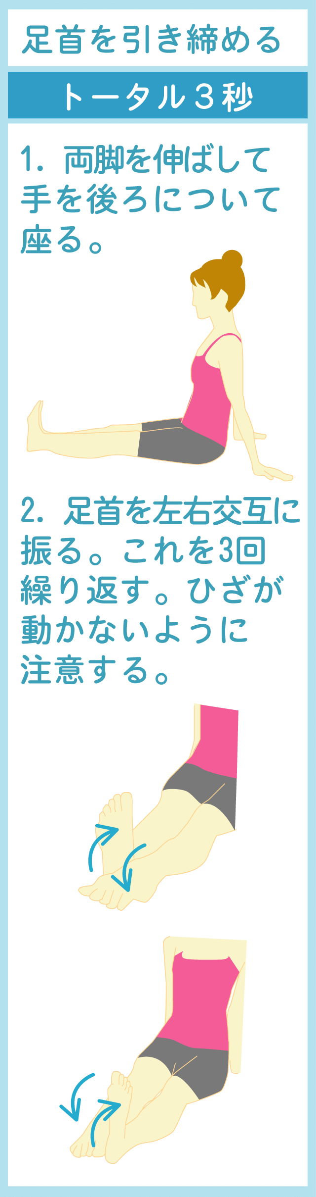 足首のパタパタストレッチ