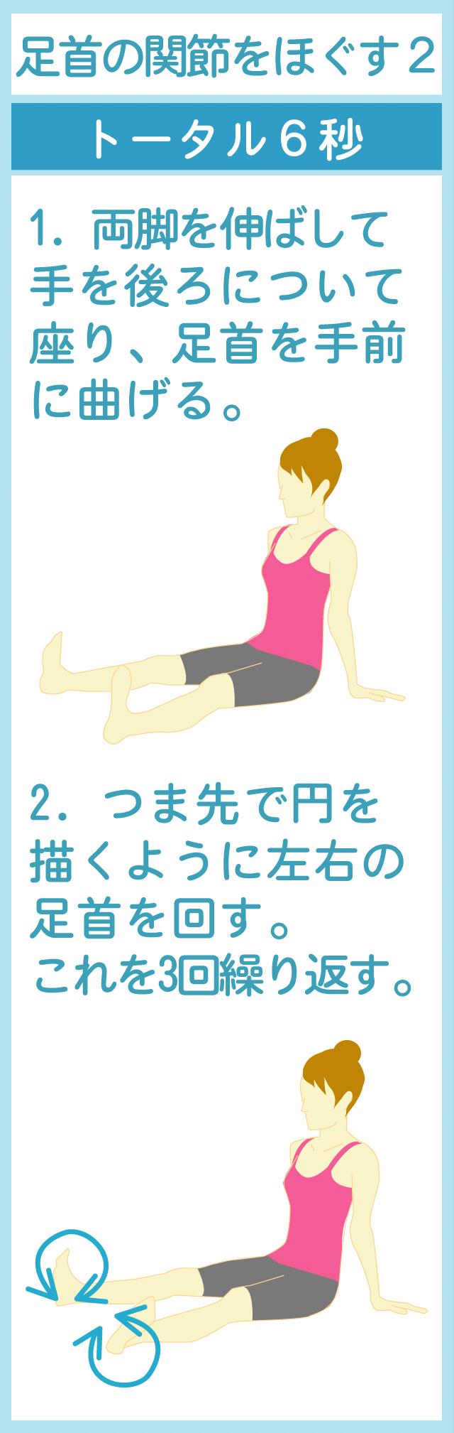 足首の関節をほぐす座ったままのストレッチ2