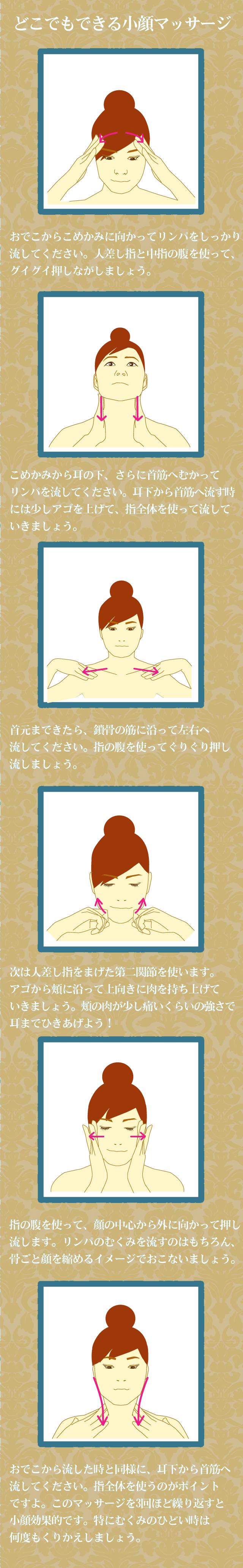 小顔マッサージの方法