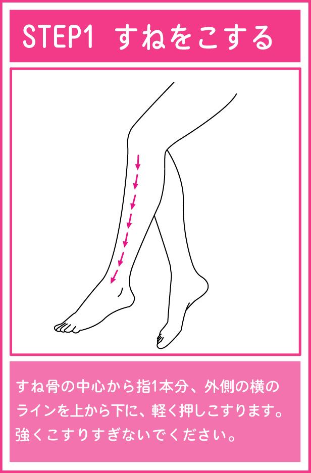 かっさを使った足のマッサージ1