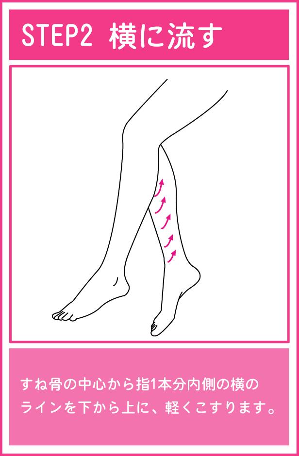 かっさを使った足のマッサージ2