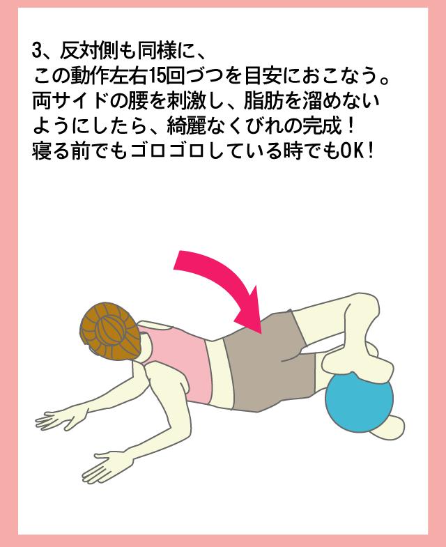 エクササイズボールを使ったエクササイズ方法3
