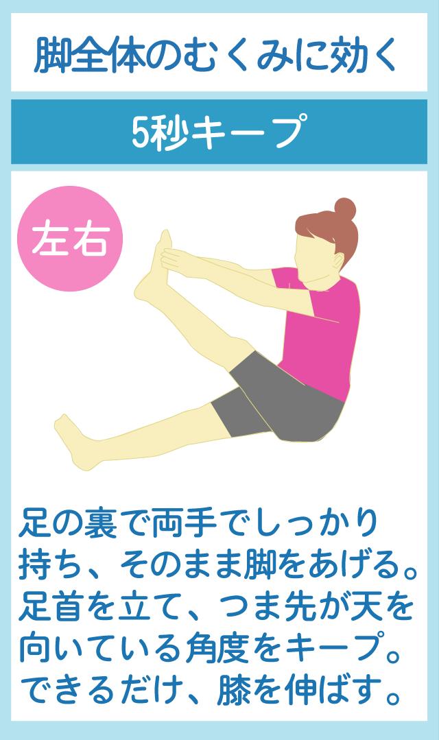 膝を伸ばして基礎代謝を上げる