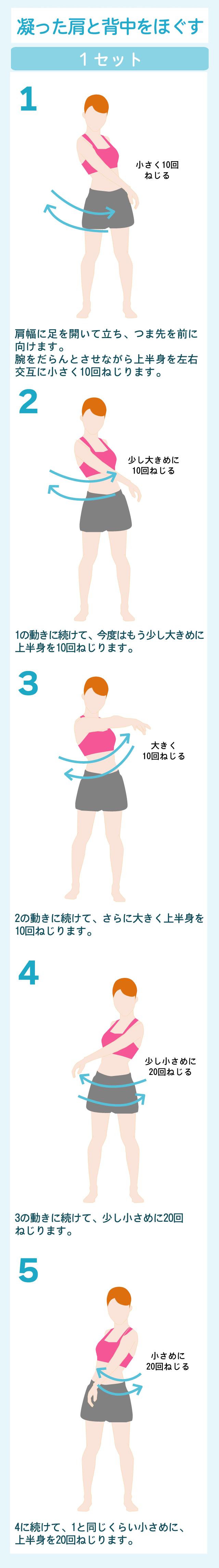 背中と肩をほぐす体操