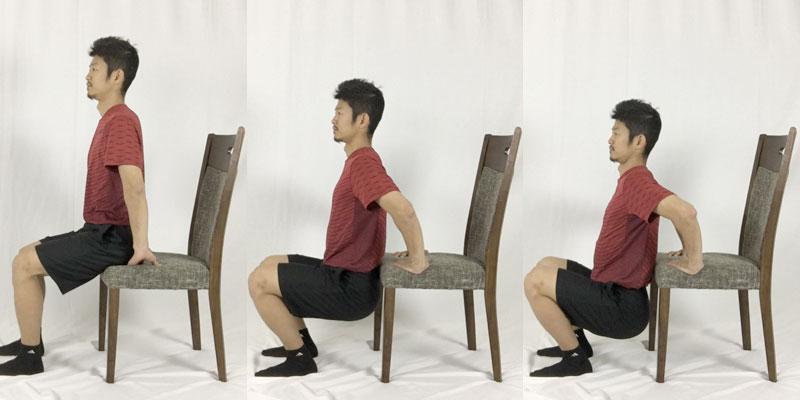 椅子を使った肩甲骨周りストレッチ