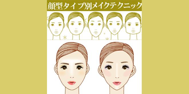 顔型別メイクテクニック