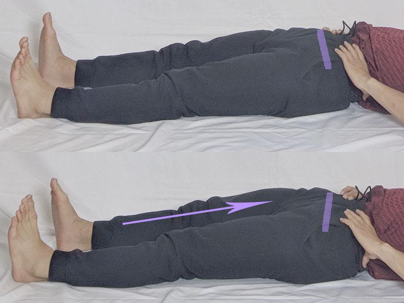 足伸ばし (骨盤の挙上・下制)エクササイズ