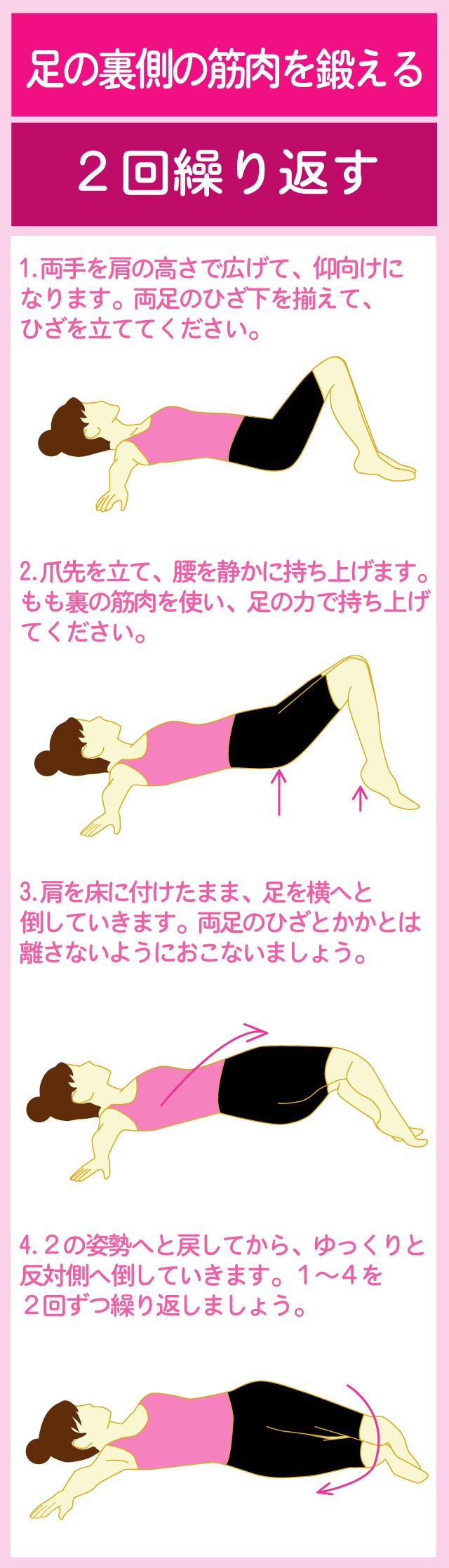 脚の裏側の筋肉を鍛える