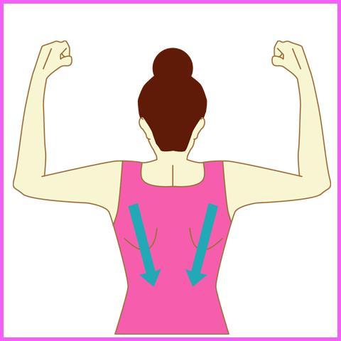 肩甲骨下部の筋肉をほぐす