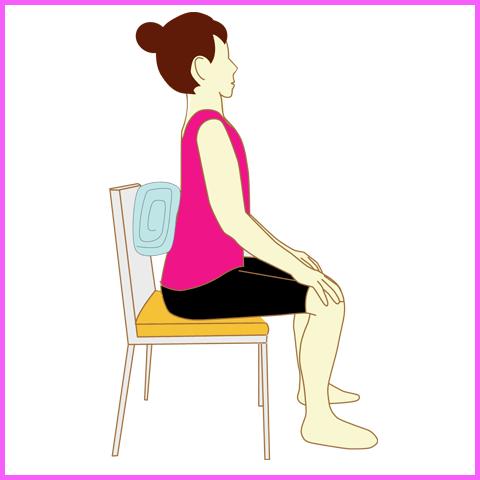 正しい座り方(タオルやクッションを使った姿勢矯正法)