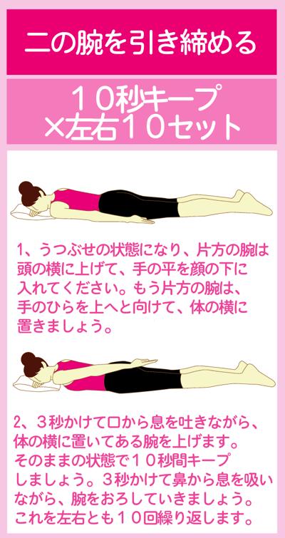 二の腕を引き締める体幹トレーニング