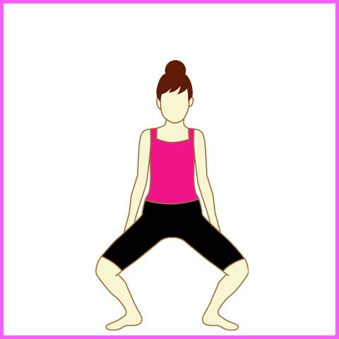 骨盤スクワット:腰の落とし方
