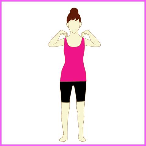 背中の痛みを緩和する旋回運動1