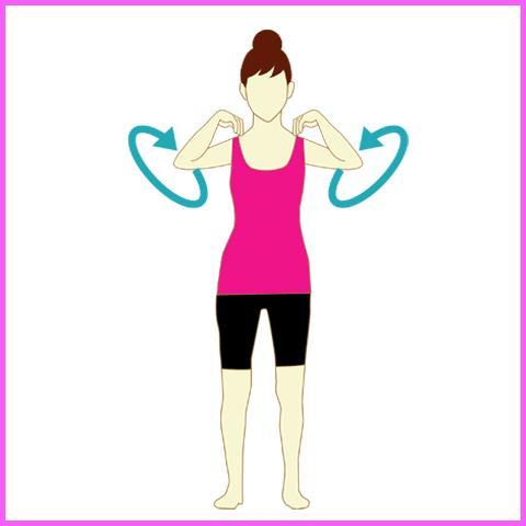 背中の痛みを緩和する旋回運動2