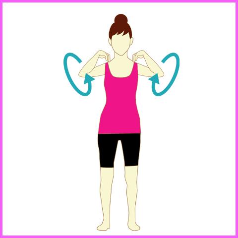 背中の痛みを緩和する旋回運動3