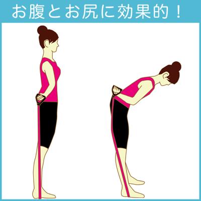 背中とお尻のチューブトレーニング