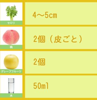 セロリと桃のスムージー