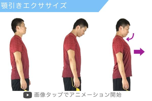顎引きエクササイズの実践方法:図解とアニメーション
