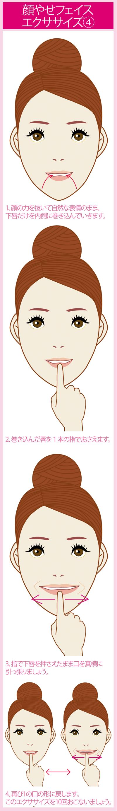 顔痩せエクササイズ5