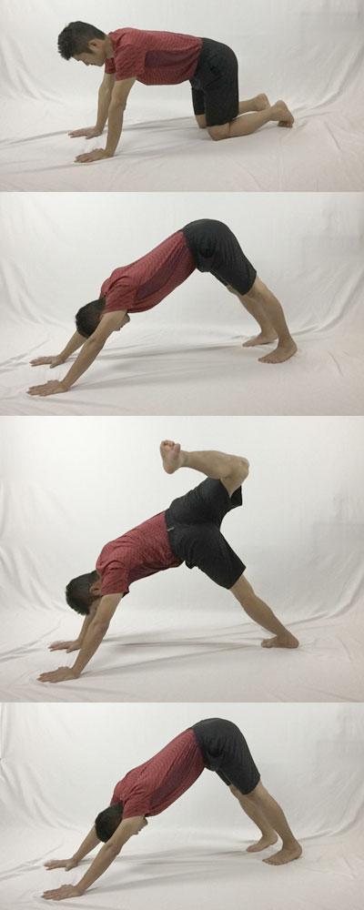 スコーピオンで股関節と身体の前面をストレッチ