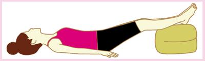 足を上げて寝ることで血の巡りをよくする