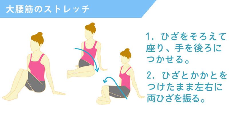 腰の歪みを改善する大腰筋のストレッチ
