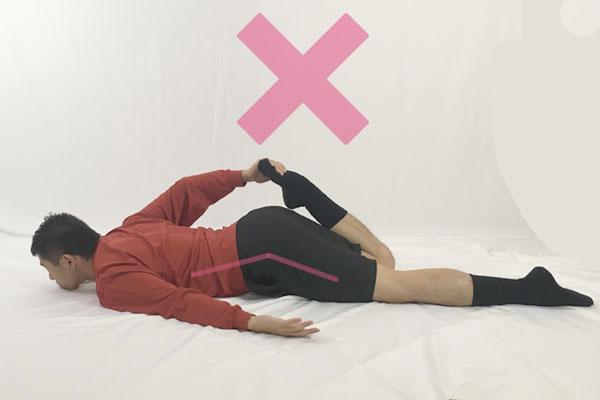 大腿四頭筋のストレッチの注意点