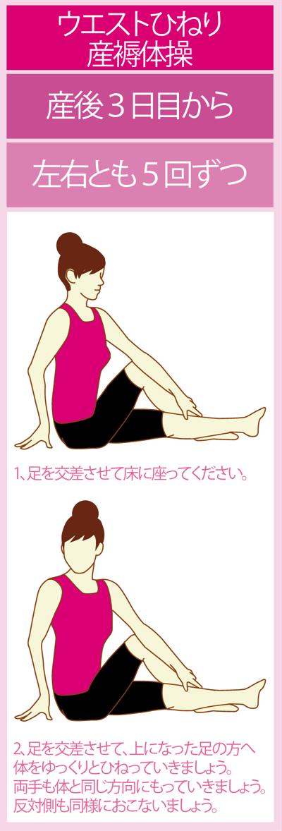 産後3日目から開始する産褥体操