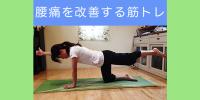 インナーマッスルの強化で腰痛改善