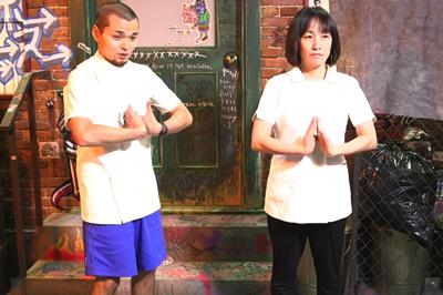 漏斗胸に効果的な手の甲あわせ体操2