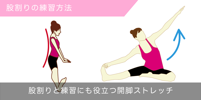 股割りの方法と開脚ストレッチ