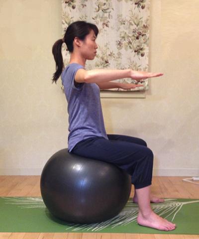 バランスボールを使ってインナーマッスルを強化する方法5