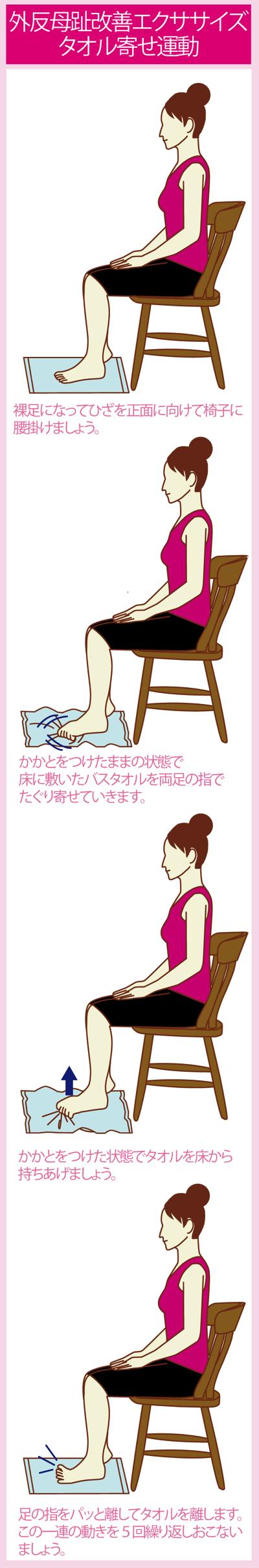 外反母趾を予防・改善するタオルエクササイズ