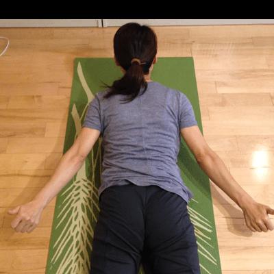 コブラで背中とお尻のインナーマッスル強化:上からの図