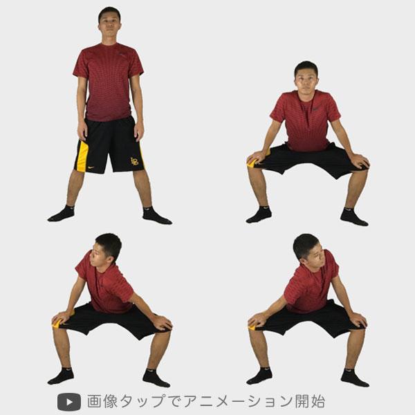 股関節のストレッチに役立つイチローストレッチの実践方法の図解