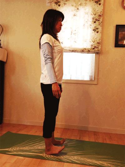 立位でのカーフレイズ+足関節の背屈