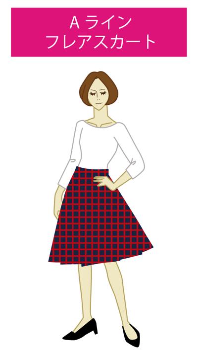 Aライン:フレアスカート