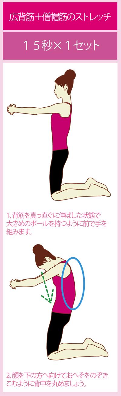 広背筋と僧帽筋をストレッチする方法
