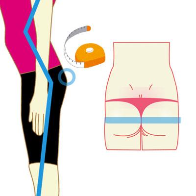 お尻のサイズの測り方図解