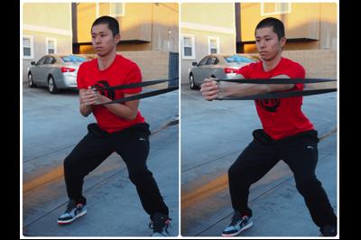 体幹ゴムチューブトレーニング