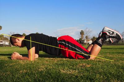 膝つきプランクのやり方