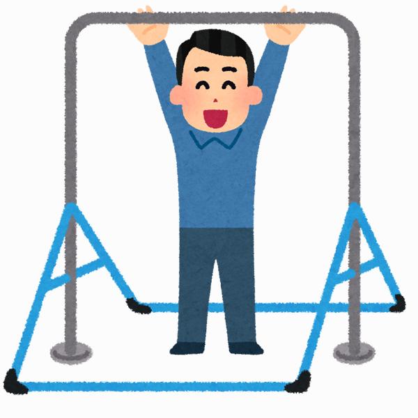 ぶら下がり棒・鉄棒を使ってハンギング・レッグリフトを行うことで腸腰筋を鍛える!