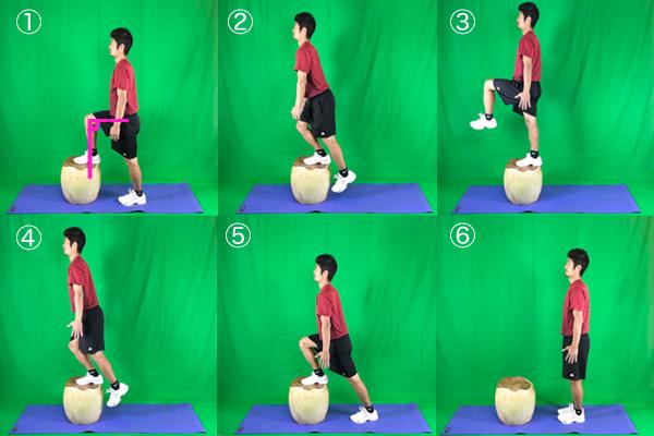 踏み台昇降運動の運動効率を高めたステップアップエクササイズ