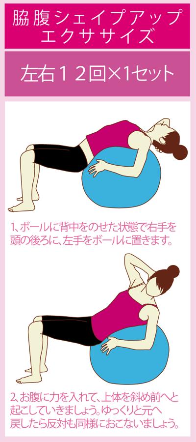 腹斜筋を鍛えるバランスボールエクササイズ
