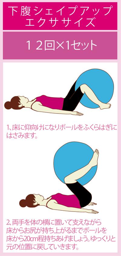 腹直筋を鍛えるバランスボールエクササイズ