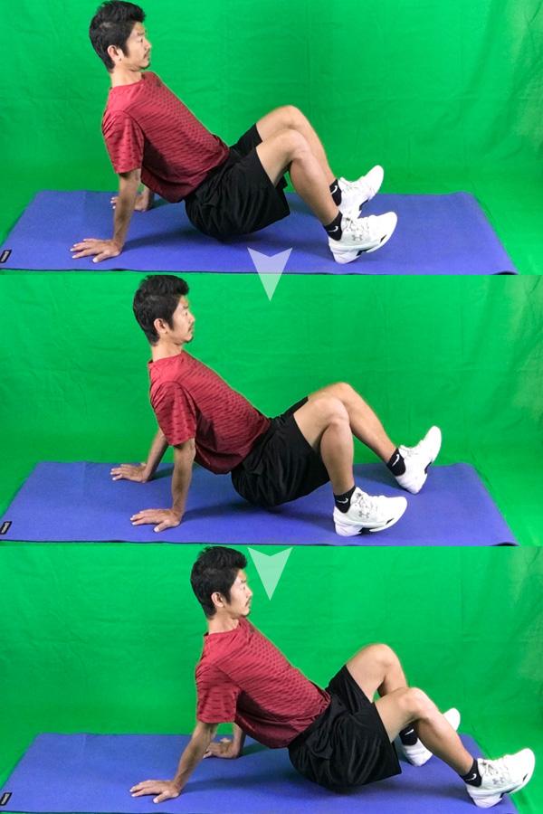 クラブ(蟹)の体幹トレーニング