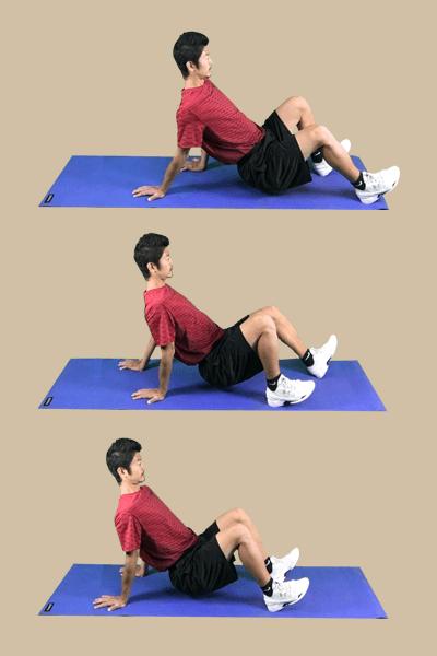 体幹トレーニング-クラブの実践画像